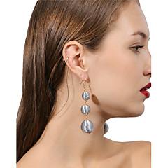preiswerte Ohrringe-Damen Mehrschichtig Tropfen-Ohrringe - Kugel Personalisiert, Modisch, Mehrlagig Rosa / Schwarz / weiss / Hellblau Für Alltag / Party / Strasse