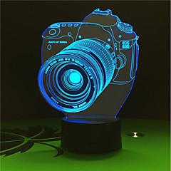 お買い得  USB ライト-1セット 3Dナイトライト USB バッテリー 変色 装飾用
