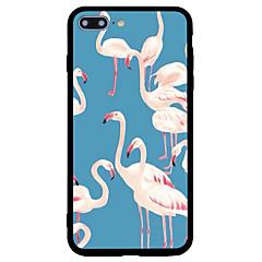 Недорогие Кейсы для iPhone 5-Кейс для Назначение Apple iPhone 7 Plus iPhone 7 Защита от удара С узором Кейс на заднюю панель Фламинго Животное Твердый Акрил для