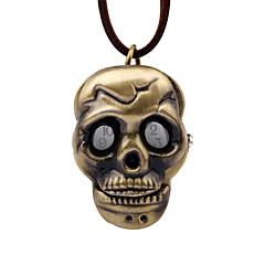 preiswerte Tolle Angebote auf Uhren-Herrn Taschenuhr Mechanischer Handaufzug Braun Armbanduhren für den Alltag Analog Retro Totenkopf - Bronze