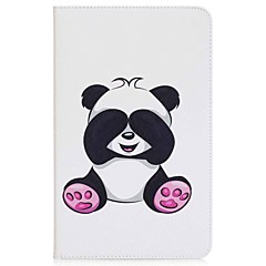 panda desenli kart tutucu cüzdan ve ayaklı flip manyetik pu deri çantası için samsung galaxy tab a 10.1 t580n t585n 10.1 inç tablet pc