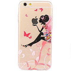 voordelige iPhone 5 hoesjes-Voor iPhone 7 iPhone 7 Plus Hoesje cover Ultradun Transparant Patroon Achterkantje hoesje Sexy dame Cartoon Zacht TPU voor Apple iPhone 7
