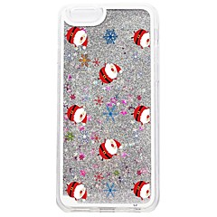 Назначение iPhone 7 iPhone 6 Чехлы панели Движущаяся жидкость С узором Задняя крышка Кейс для Сияние и блеск Рождество Твердый PC для