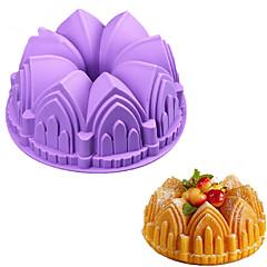 1kpl iso kruunu linna silikoni kakku muotti 3d syntymäpäivä kakku pannulla koristella työkaluja