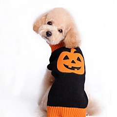 Kissa Koira Takit Neulepaidat Koiran vaatteet Juhla Rento/arki Cosplay Pidä Lämmin Häät Halloween Joulu Uusivuosi Pumpkin Musta