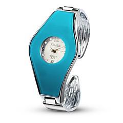 Women's Fashion Watch Simulated Diamond Watch Unique Creative Watch Chinese Quartz Alloy Band Bangle Silver