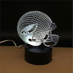 preiswerte Ausgefallene LED-Beleuchtung-1set 3D Nachtlicht USB Batterie Farbwechsel Dekorativ