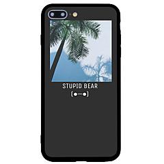 Назначение iPhone 7 iPhone 7 Plus Чехлы панели Матовое С узором Задняя крышка Кейс для Пейзаж дерево Твердый Акриловое волокно для Apple