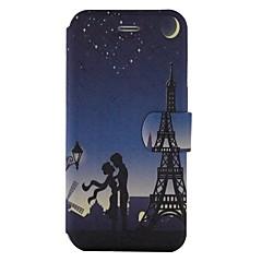 Назначение iPhone X iPhone 8 Чехлы панели Бумажник для карт со стендом Флип С узором Чехол Кейс для Эйфелева башня Твердый Искусственная