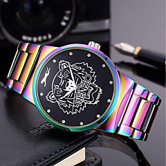 cheap Bracelet Watches-Men's Women's Fashion Watch Wrist watch Bracelet Watch Chinese Quartz Punk Large Dial Stainless Steel Band Charm Luxury Creative Casual