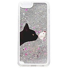 billige iPhone-etuier-Etui Til Apple iPhone 7 Plus iPhone 7 Flydende væske Mønster Bagcover Kat Glitterskin Hårdt PC for iPhone 7 Plus iPhone 7 iPhone 6s Plus