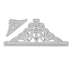 preiswerte -2 stücke krone kunststoff fondant cutter kuchenform fondant cupcake dekorieren tools