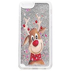 お買い得  iPhone 5S/SE ケース-ケース 用途 Apple iPhone X / iPhone 8 / iPhone 8 Plus リキッド / パターン バックカバー キラキラ仕上げ / クリスマス ハード PC のために iPhone X / iPhone 8 Plus / iPhone 8