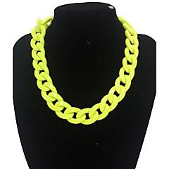 preiswerte Halsketten-Damen Ketten / Statement Ketten - Luxus, Modisch Gelb, Rot Modische Halsketten Schmuck Für Alltag, Normal