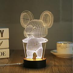 お買い得  USB ライト-1セット 3Dナイトライト USB 装飾用