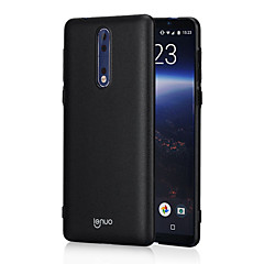 nokia 8 için lenuo case 8 6 ultra ince kapak kapağı 1cm arka kapak kasası solid color hard pc for nokia 5