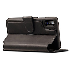 tanie Etui do iPhone 7-Kılıf Na Apple iPhone X iPhone 8 iPhone 8 Plus iPhone 7 Etui na karty Portfel Z podpórką Flip Magnetyczne Pełne etui Solid Color Twarde