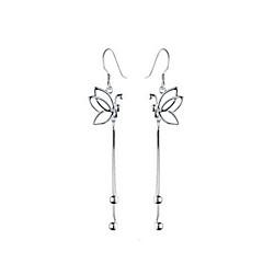 Mujer Pendientes colgantes Puños del oído joyería de disfraz Perla Plata de ley Legierung Forma de Animal Mariposa Joyas Para Diario