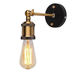 Χαμηλού Κόστους LED Αξεσουάρ-1pcs σύγχρονη σοφίτα vintage ρυθμιζόμενο βιομηχανικό μεταλλικό τοίχο φως ρετρό ορείχαλκο τοίχο λαμπτήρα χώρα στυλ λαμπτήρα λαμπτήρα