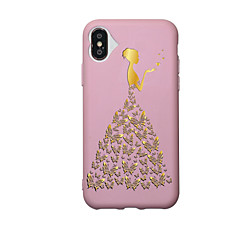 Назначение iPhone X iPhone 8 Чехлы панели С узором Задняя крышка Кейс для Бабочка Соблазнительная девушка Мягкий Термопластик для Apple