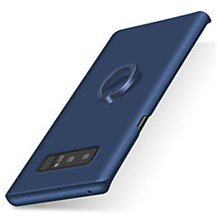 Etui Käyttötarkoitus Samsung Galaxy Note 8 Sormuksen pidike Himmeä Takakuori Yhtenäinen väri Kova PC varten Note 8 Note 5 Note 4 Note 3