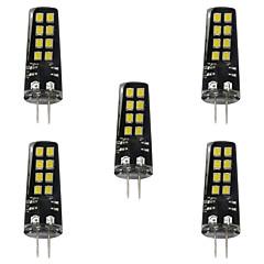 お買い得  LED 電球-5個 3W 200lm G4 LED2本ピン電球 16 LEDビーズ SMD 2835 装飾用 温白色 ホワイト 12V