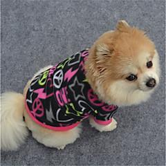 halpa Koirien vaatteet ja tarvikkeet-Koira College Koiran vaatteet Geometrinen Musta Purppura Fuksia Polar Fleece Asu Lemmikit Rento/arki