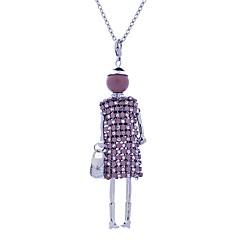 preiswerte Halsketten-Damen Lang Anhängerketten - Spitze Prinzessin Personalisiert, Luxus Silber, Dunkelblau, Braun Modische Halsketten Schmuck Für Bühne, Verabredung