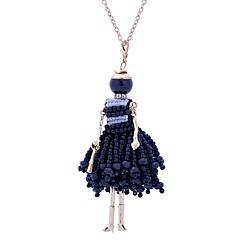 abordables Bijoux pour Femme-Femme Long Colliers Déclaration - Dentelle Princesse Le style mignon Blanc, Noir Colliers Tendance Bijoux Pour Anniversaire, Fiançailles