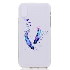 Назначение iPhone X iPhone 8 Чехлы панели Прозрачный С узором Задняя крышка Кейс для  Перья Мягкий Термопластик для Apple iPhone X iPhone