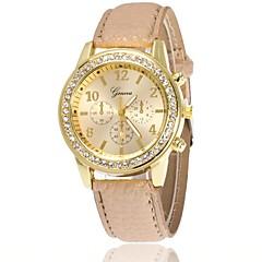 お買い得  大特価腕時計-女性用 リストウォッチ ダミー ダイアモンド 腕時計 クォーツ ブラック / 白 / ブルー 模造ダイヤモンド ハンズ レディース チャーム カジュアル エレガント ドレスウォッチ - ブルー ピンク ライトブルー