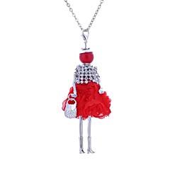 abordables Collares-Mujer Largo Collares Declaración - Tela de Encaje Princesa Bohemio, Boho Adorable Negro, Azul Oscuro, Rojo Gargantillas Joyas Para Fiesta, Casual
