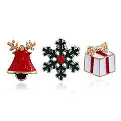 Γυναικεία Καρφίτσες Γεωμετρικό Εξατομικευόμενο Κράμα Κοσμήματα Για Χριστούγεννα Κλαμπ