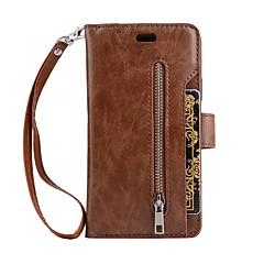 Назначение iPhone X iPhone 8 Чехлы панели Кошелек Бумажник для карт со стендом Флип Задняя крышка Кейс для Сплошной цвет Твердый