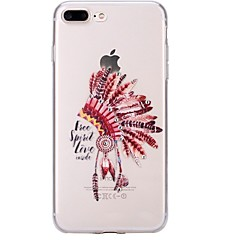 Назначение iPhone 7 iPhone 7 Plus Чехлы панели Стразы Ультратонкий С узором Задняя крышка Кейс для Черепа  Перья Мягкий Термопластик для