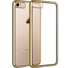 halpa iPhone 7 kotelot-Etui Käyttötarkoitus iPhone 7 Plus iPhone 7 Apple iPhone 8 iPhone 8 Plus Pinnoitus Läpinäkyvä Takakuori Läpinäkyvä Pehmeä TPU varten