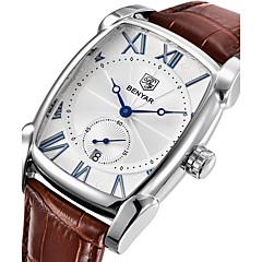preiswerte Herrenuhren-Herrn Quartz Armbanduhr Japanisch Kalender / Cool Echtes Leder Band Luxus / Freizeit / Modisch Braun