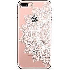 Назначение iPhone 7 iPhone 7 Plus Чехлы панели Ультратонкий Прозрачный С узором Задняя крышка Кейс для Мандала Кружева Печать Мягкий