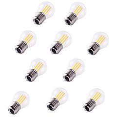 halpa LED-lamput-10pcs 4W 360 lm E27 LED-hehkulamput G45 4 ledit COB Koristeltu Lämmin valkoinen Kylmä valkoinen AC 220-240V