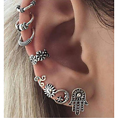 Women's Clip Earrings Vintage Alloy Geometric Jewelry For Daily