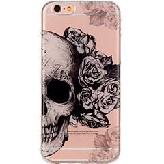 billige Etuier til iPhone 5S / SE-Til iPhone 7 iPhone 7 Plus Etuier Ultratyndt Mønster Bagcover Etui Dødningehoveder Blødt TPU for Apple iPhone 7 Plus iPhone 7 iPhone 6s