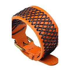 preiswerte Armbänder-Herrn / Damen Lederarmbänder - Leder Personalisiert, Punk Armbänder Schwarz / Orange / Braun Für Normal / Bühne
