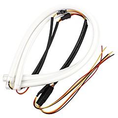 ziqiao 2本60センチメートルdrlフレキシブルledチューブストリップスタイル昼間ランニングライト涙ストリップ車ヘッドライトターンシグナルライトパーキングランプ