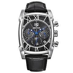 preiswerte Herrenuhren-Herrn Quartz Armbanduhr Japanisch Kalender / Cool / Stopuhr Echtes Leder Band Luxus / Freizeit / Modisch Schwarz / Braun