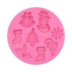 hesapli -Pasta Kalıpları Kek Silikon Noel Yüksek kalite