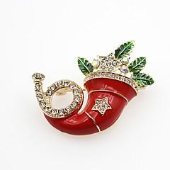 Damskie Broszki sztuczna Diament Modny Klasyczny Stop Geometric Shape Biżuteria Na Impreza Święta Bożego Narodzenia