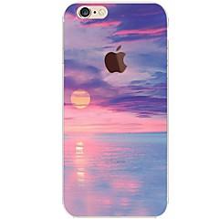 Недорогие Кейсы для iPhone 5-Кейс для Назначение Apple iPhone 7 Plus iPhone 7 Ультратонкий Прозрачный С узором Кейс на заднюю панель Пейзаж Мягкий ТПУ для iPhone 7
