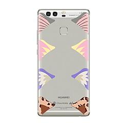 Etui Käyttötarkoitus Huawei P9 P10 Läpinäkyvä Kuvio Takakuori Tiili Läpinäkyvä Pehmeä TPU varten Huawei P10 Plus Huawei P10 Lite Huawei