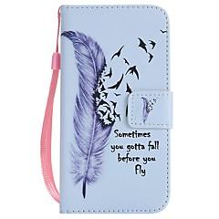 Назначение iPhone X iPhone 8 iPhone 8 Plus Чехлы панели Кошелек Бумажник для карт со стендом Флип С узором Чехол Кейс для  Перья Твердый