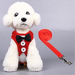 お買い得  犬用首輪/リード/ハーネス-ネコ 犬 ハーネス 高通気性 折り畳み式 ソリッド テリレン ブラック レッド